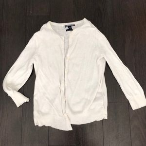 Tommy Hilfiger cream cotton cashmere cardigan